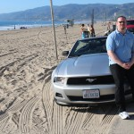 Me and the Mustang on Malibu beach again